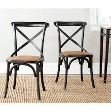 Safavieh Dining Room Chairs by Safavieh Franklin Ivory Oak U0026 Rattan X Back Dining Chair Set Of 2