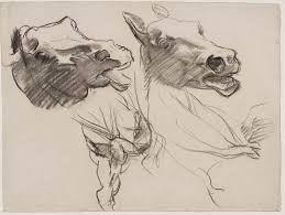 Mural Painting Sketches by Sketch For Gog And Magog Horses U0027 Heads Boston Public Library