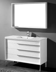 Discount Bathroom Cabinets And Vanities by Milano 48 Inch Modern White Cheap Bathroom Vanities Free Standing