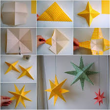 Craft Ideas Home Decor Best 25 Paper Stars Ideas On Pinterest Origami Stars 3d Paper