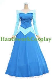 Aurora Halloween Costume Aurora Blue Dress Sleeping Beauty Princess Aurora Blue Version