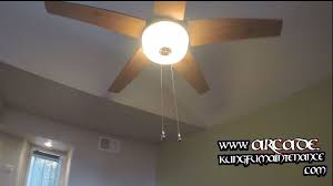 ceiling fan pull chain switches not working on pass through glass