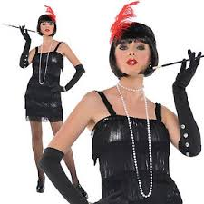 1920 Halloween Costumes Women U0027s 1920 U0027s Flashy Flapper Gangster Moll Halloween Fancy