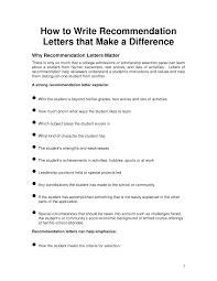 Sample College Recommendation Letter    Free Doents In Word Pdf