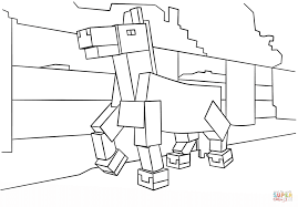 minecraft horse coloring page free printable coloring pages
