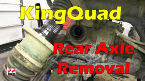 how to remove rear axle kingquad axi atv tech tip 450 500 700
