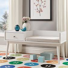White Entryway Table by Langley White Telephone Bench Telephone And Benches