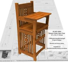 05 wc 0924e mission style baby highchair woodworking plan