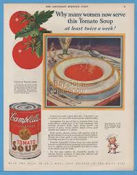 1924 campbells soup ad original vintage campbells soup