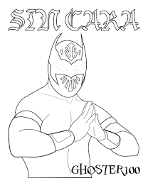 wwe sin cara coloring pages glum me