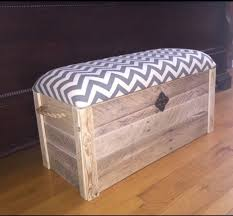Diy Reclaimed Wood Storage Bench by Hope Chest Toy Box Entryway Bench Storage Bench