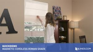 blinds com magnetic cordless roman pleat shade quickdemo u0026raquo