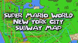 Mta Info Subway Map by New York City Super Mario World Poster Youtube
