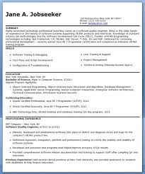 Best Java Developer Resume by Stylish Ideas Quality Engineer Resume 2 10 Best Images About Best