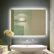 703e alice dimmable and anti fog led backlit mirror wall mount