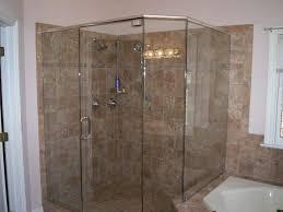 interior corner shower stalls for small bathrooms dark brown