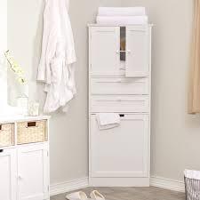 white corner bathroom linen cabinet taylor corner linen tower