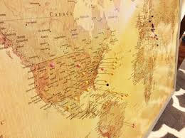 Colored World Map by Push Pin World Map Vintage Colored Map From Target Com Cork