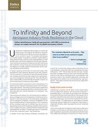 This brief case study examines how Italy     s UmbraGroup  a strategic supplier to the aerospace industry  worked with IBM to improve its     Forbes