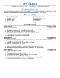 Best Job Resume by Best Grants Administrative Assistant Resume Example Livecareer