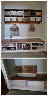 Storage Bench With Hooks by Top 25 Best Mudroom Storage Bench Ideas On Pinterest Entryway