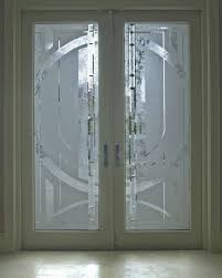 bevelled glass door etched sandblasted