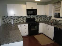 furniture exciting kitchen design with dark countertop and white