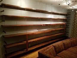 diy walnut and wire bookshelves album on imgur