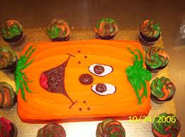 birthday halloween decorations another pumpkin sheet cake holiday cake decorting pinterest