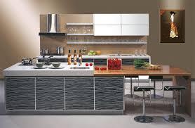 cool modern open kitchen design with white granite countertop
