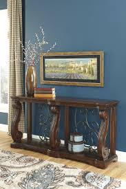 Ashley Furniture Couches Ashley Furniture T869 4 Alymere Rustic Brown Casual Sofa Table