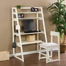 Modern White Office Desks Wondrous Corner White Home Office Design With Single White Desk