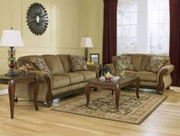 Sofa With Wood Trim by Santiago Traditional Brown Fabric Wood Trim Sofa Couch Set Living