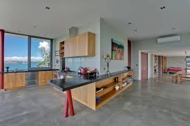 cool kitchen design at summer cottage in matakana new zealand