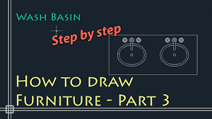 autocad 2d basics tutorial to draw floor plan furniture part 3