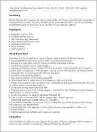Sample Resumes For Professionals by Professional Retired Teacher Templates To Showcase Your Talent