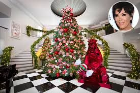 christmas kris jenner shows off kandyland chic holiday decorations