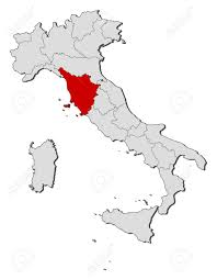 Tuscany Map Political Map Of Italy With The Several Regions Where Tuscany