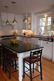 Marble Island Kitchen Cherry Wood Grey Amesbury Door Small Kitchens With Islands