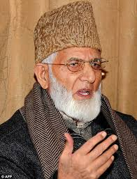 Opposed: Syed Ali Shah Geelani said he does not agree with the Sharia court's decision to expel the Christian missionaries - article-2093171-11806127000005DC-883_468x613