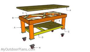 Plans For Building A Wooden Workbench by Heavy Duty Workbench Plans Myoutdoorplans Free Woodworking