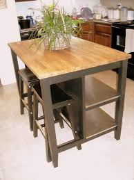decor oak stenstorp kitchen island with stool and area rug for