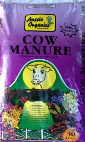 Manure For Vegetable Garden by Aussie Organics Cow Manure 30 Litre Bag Dawsons Garden World