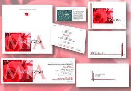 folded invitation invitations for formal occasions weddings barmitzvahs