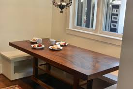 Dining Table With Banquette Devos Custom Woodworking Custom Contemporary Eclectic Tables