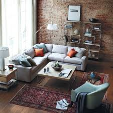 Living Room Design Ideas With Grey Sofa An Enchanting Living Room Design With Red Brick Wall Design With