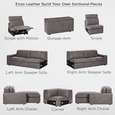 Build Your Own Sectional Sofa by Build Your Own Enzo Leather Sectional Pieces West Elm