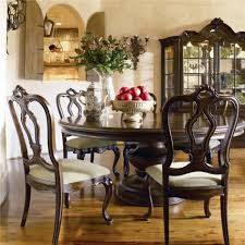 decoration ideas enchanting round dark brown cherry wood dining