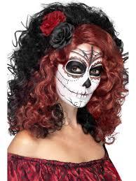 w416 day of the dead wig flowers mexican senorita ladies sugar