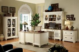 White Home Interiors Rustic Style Home Office Design With White Painted Furniture